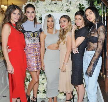 Kim Kardashian West Helps Host The Tot's Holiday Pop-Up Celebration