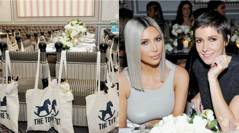Kim Kardashian and Cassandra Grey hosted The Tot's holiday pop-up celebration at The Grove LA.