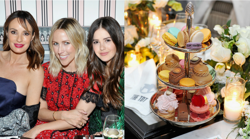 Catt Sadler and Jacey Duprie attend The Tot's holiday pop-up celebration.