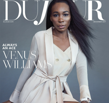 DuJour December Cover Featuring Venus Williams