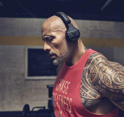 Dwayne Johnson Introduces New Under Armour Headphones