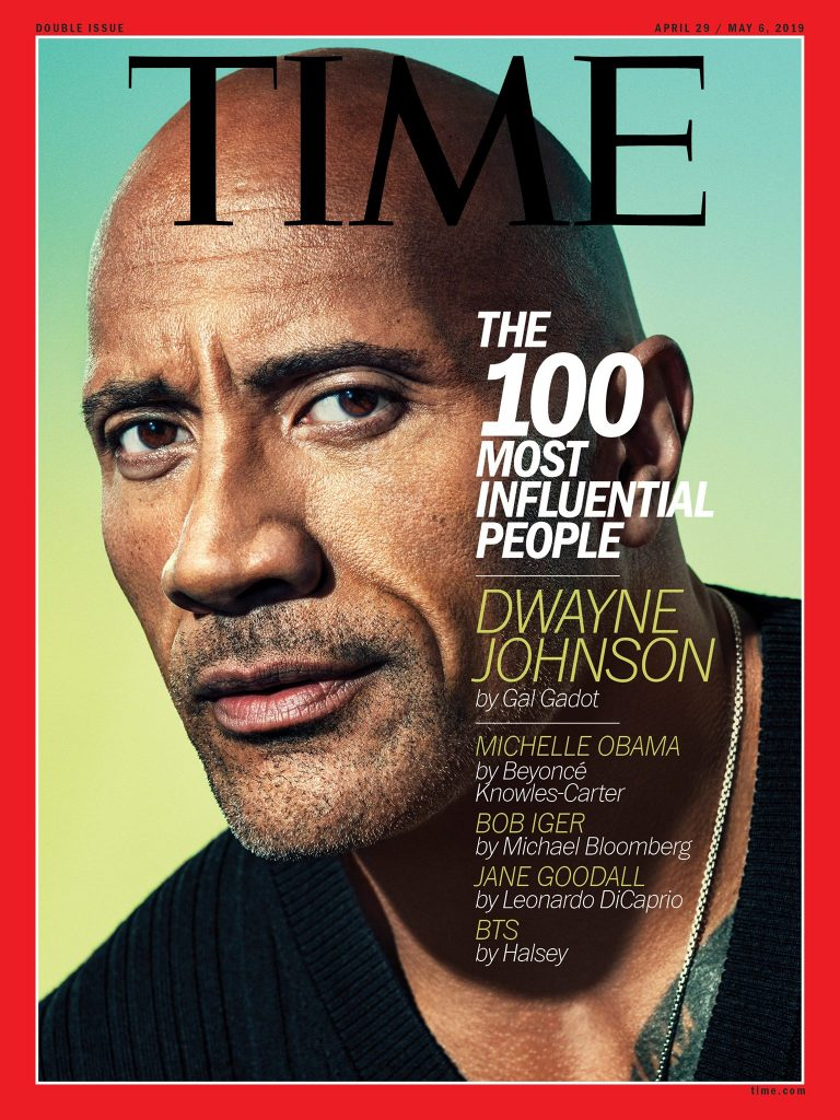 TIME 100 cover featuring Dwayne Johnson