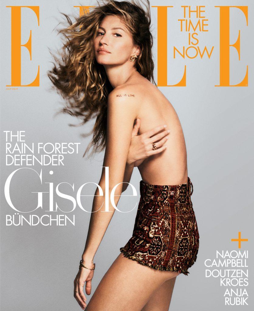 Gisele Bündchen Covers ELLE's July Issue