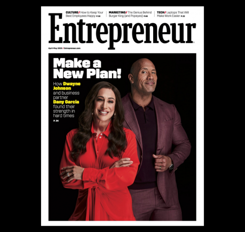 Dwayne Johnson and Dany Garcia Featured On The Cover of Entrepreneur