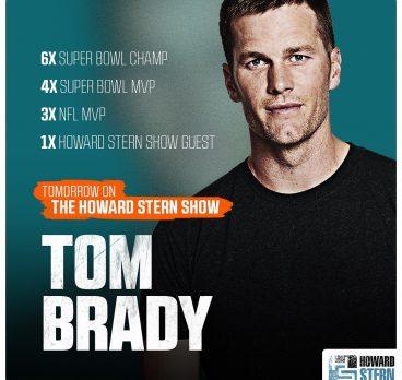 Tom Brady on the Howard Stern Show
